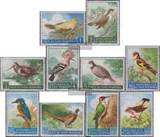 San Marino 635-644 (complete Issue) Unmounted Mint / Never Hinged 1960 Birds - San Marino