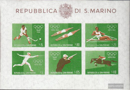San Marino Block7 (complete Issue) Unmounted Mint / Never Hinged 1960 Summer Olympics - Blocks & Sheetlets