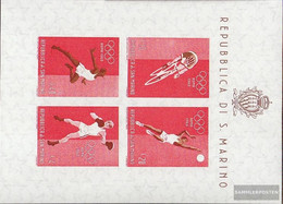 San Marino Block6 (complete Issue) Unmounted Mint / Never Hinged 1960 Summer Olympics - Blocks & Sheetlets