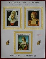 Ecuador 1967 Pinturas - Non Dentelé - Van Der Weyden, Dürer, Raphael ** MNH - Equateur