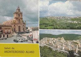 MONTEROSSO ALMO (RG) /  Saluti Con Vedutine _ Viaggiata - Ragusa