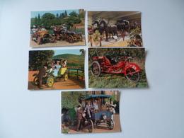 LOT DE 5 CARTES  TRANSPORT ANCIEN - Postcards