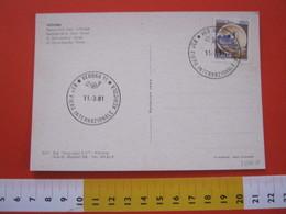 A.05 ITALIA ANNULLO - 1981 VERONA 93^ FIERA INTERNAZIONALE AGRICOLA AGRICOLTURA CARD SAN ZENO PORTALE - Agricoltura