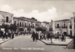 MONTEROSSO ALMO (RG) /   Piazza Della Rimembranza _ Cartolina Fotografica - Ragusa