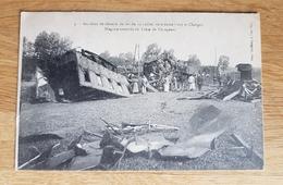 CPA-70-Après L'accident De Chemin De Fer Du 13 Juillet 1919, Entre Gray Et Chargey-le-Gray WAGONS EVENTRES DU TRAIN - Gray