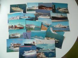 LOT DE21 CARTES  TRANSPORT  BATEAU - Ships
