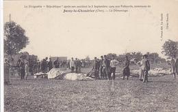 "Cpa-aviation-18-dirigeable ""republique""-accident-1909 A Jussy Le Chaudrier Aux Policards-edi Perrot / Cliché Beaufils - Dirigeables"