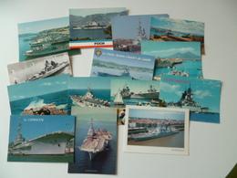 LOT DE  14 CARTES  TRANSPORT  BATEAU DE GUERRE - Warships