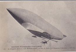"Cpa-aviation- Dirigeable Militaire ""republique"", Manoeuvre D'ascension-edi N.D N°181 - Dirigeables"