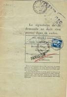 1936- Formulaire 13 P - 1è Et 2è Parties  Caisse NNationale D'Epargne -demande Et Autorisation De Remboursement - 1921-1960: Période Moderne