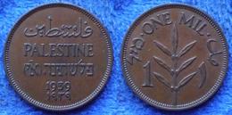 PALESTINE - 1 Mil 1939 KM# 1 British Administration Bronze - Edelweiss Coins - Coins