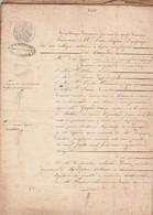 VP 8 FEUILLES - 1851 - LEGS DU CHATEAU DU SAIX A PERRONNAS - CURE A IRYGNY - THONON - LULLIN - Manoscritti