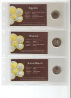 """Collection """"Les Monnaies Bicolores Les Plus Rares """" 60 Pieces étrangères Différentes, Russie,Taïwan,Monaco,Chine,Canada - Monnaies & Billets"""