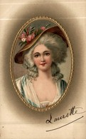 ILLUSTRATION TRES BEAU PORTRAIT DE FEMME EN MEDAILLON - Femmes