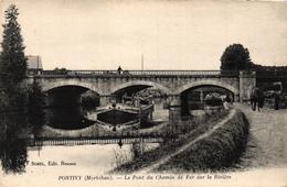 PONTIVY - LE PONT DU CHEMIN DE FER SUR LA RIVIERE - Pontivy