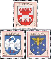 Litauen 1031-1033 (kompl.Ausg.) Postfrisch 2010 Wappen - Lithuania