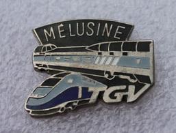 Pin's Train TGV Mélusine . Egf . émail Grand Feu - TGV