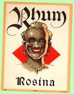 Etiquette Rhum, Rhum Rosina - Rhum