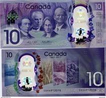 CANADA       10 Dollars       Comm.       P-112       2017        UNC - Canada