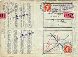 1943- Formulaire 13 P - 1ère Partie Caisse NNationale D'Epargne -demande Et Autorisation De Remboursement - 1921-1960: Période Moderne