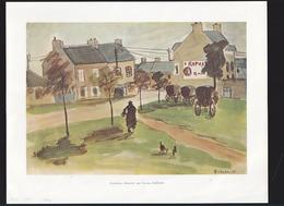 Manche - Quettehou, Par Yvonne Guégan (1935) St-Raphael Quinquina (sur Maison) - Vieux Papiers