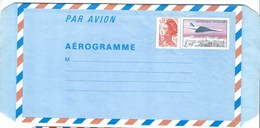 France, Aérogramme 1977, Avion Concorde - Avions