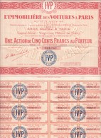 """(Tapp 3) Action  De 100 Francs  """"L'Immobilière Des Voitures  à Paris  1927"""" - Aandelen"""