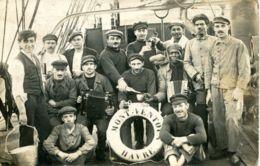 """N°67997 -carte Photo épuipage Du """"Mont Ventoux"""" Cargo  Le Havre - Commerce"""