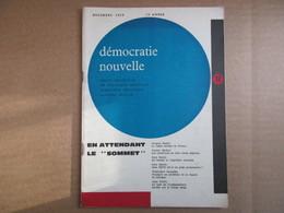 Démocratie Nouvelle / Décembre 1959 - Politique