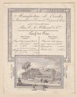 Liancourt, Pres Clermont Départ De L'Oise - Vue De La Manufacture De Cardes (lithographie Circa1850)  Tarif - 1800 – 1899