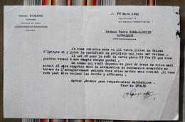 Lettre 55 VARENNES EN ARGONNE Henri EVRARD NOTAIRE - France