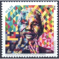 BRAZIL 2018  -  NELSON MANDELA - BIRTH CENTENARY   -  MINT - Brazil