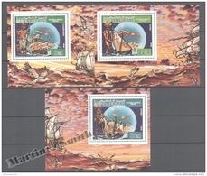 Mauritanie - Mauritania 1986 Yvert 587-89, 500th Anniv. Of America Discovery By C. Columbus - Individual Sheets - MNH - Mauritania (1960-...)
