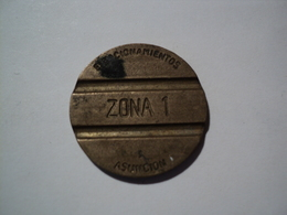 PARAGUAY. JETON DE STATIONNEMENT D ASUNCION ZONE 1 - Jetons & Médailles