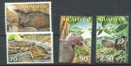 Niuafo'ou ** N° 292 à 295 - Oiseaux - Malau - Tonga (1970-...)
