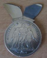 France - Curiosité - Eloi France - Monnaie 5 Francs Hercule 1873 A Transformée En Nécessaire à Manucure - Argent - TBE - France