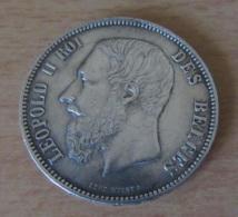 Belgique - Monnaie 5 Francs Léopold II 1875 En Argent - TTB+ Proche SUP - 1865-1909: Leopold II