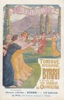 """DE L'ILLUSTRATEUR J.ENGEL - 6ème PRIX AU CONCOURS D'AFFICHES """" BYRRH """" SUR 112 LAUREATS - BELLE CARTE- 2 SCANNS - - Künstlerkarten"""