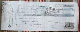 51 SOMME SUIPPES Dannequin Billet A Ordre Bister PASSAVANT EN ARGONNE, Timbre Fiscal, Tampons - France