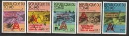 TCHAD -  N° 369/70+PA  ** (1979) ESPACE  Surcharge En Rouge - Chad (1960-...)