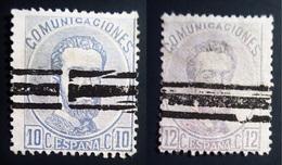 1872-1873 Espagne Yt 120,121 . Mi 114,122 . King Amadeo I - 1872-73 Royaume: Amédée I