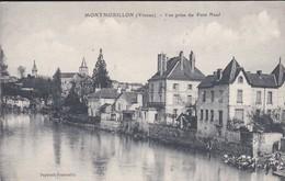 86-----MONTMORILLON--vue Prise Du Pont Neuf--( Laveuses )--voir 2 Scans - Montmorillon