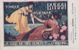 """DE L'ILLUSTRATEUR G.LAURAIN - 6ème PRIX AU CONCOURS D'AFFICHES """" BYRRH """" SUR 112 LAUREATS - BELLE CARTE- 2 SCANNS - - Künstlerkarten"""