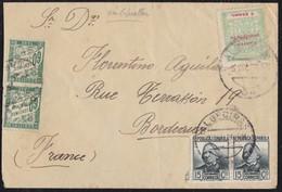 GUERRA CIVIL. 1936. ALGECIRAS A BURDEOS (FRANCIA). MUY RARA E INTERESANTE. - 1931-Hoy: 2ª República - ... Juan Carlos I