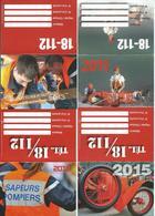 C 2 - 4 PETITS CALENDRIERS - THÈME POMPIERS - ANNÉES 2011-2013-2015-2016 - Calendriers