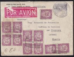 GUERRA CIVIL. 1938. BARCELONA A CHATEAU DE CAVLLON (FRANCIA). ESPECTACULAR FRANQUEO. PRECIOSA. - 1931-50 Lettres