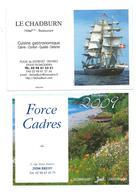 C 3 - 5 PETITS CALENDRIERS - THÈME BATEAUX - MER - PHARE - ANNÉES 2006 (2)-2009-2014-2018  (2 SCAN) - Calendriers