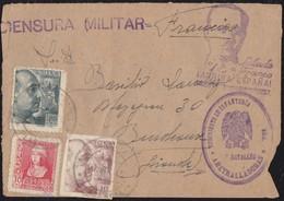 GUERRA CIVIL. 1939. PLASENCIA A BURDEOS (FRANCIA). FRANQUEO TRICOLOR. - 1931-50 Brieven