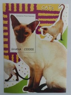 Ghana 2007** Mi.Bl.483. Cats, MNH [12;97] - Gatos Domésticos