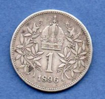 Autriche  - 1 Corona  1896   -  Km # 2804  -  état  TB+ - Austria